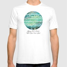 Tribal Evolution Series White Mens Fitted Tee SMALL