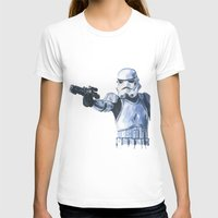 stormtrooper T-shirts featuring Stormtrooper by KristinMillerArt