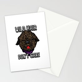Lagotto Romagnolo Wild Hair Don't Care Funny Barbet Stationery Cards