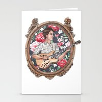 vampire weekend Stationery Cards featuring Ezra Koenig of Vampire Weekend by Jesse Knight