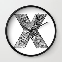 Cutout Letter X Wall Clock
