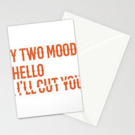 Hello I'll Cut You Funny Mechanic Office Gift Stationery Cards