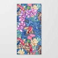 splash Canvas Prints featuring Orchid Splash by Vikki Salmela