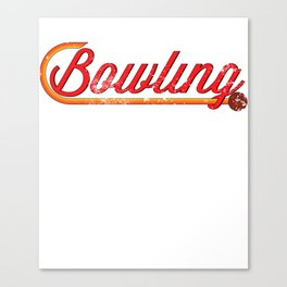 Retro Bowling print Cool Gift For Vintage Lovers Canvas Print