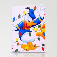 donald duck Stationery Cards featuring Donald Duck Holidays by Brian David