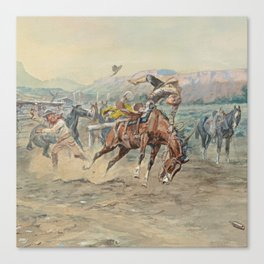 C.M. Russell The Tenderfoot Canvas Print