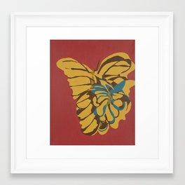 Abstract Butterflies #1 Framed Art Print