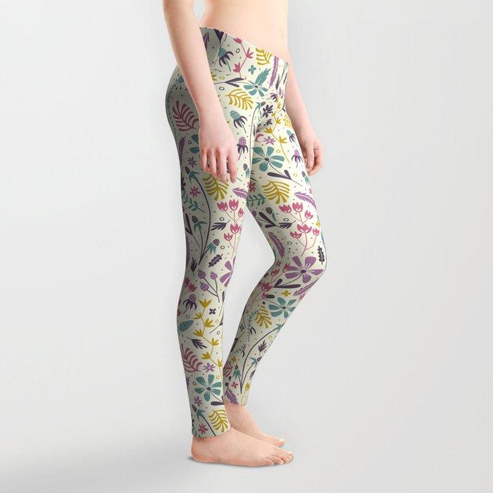 Retro Blooms (Candy) Leggings