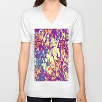 hippy V-neck T-shirts featuring Autumn Hippy- Style by Die Farbenfluesterin