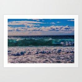 Big Surf at Blue Shutters Beach, Rhode Island Art Print
