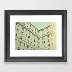 Vintage San Francisco Architecture (Film) Framed Art Print
