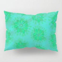 Teal Petal Rose Pillow Sham