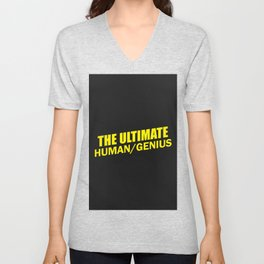 b99 - the ultimate human slash genius Unisex V-Neck
