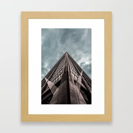 Epic Look Up View of the Chicago's John Hancock Building Framed Art Print
