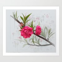 blossom Art Prints featuring Blossom by IvanaW