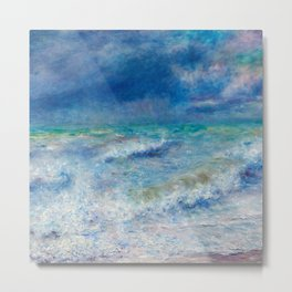 Seascape Ocean Blue Colors Metal Print
