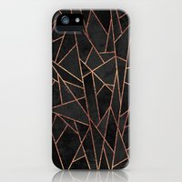 iPhone 5/5s Case featuring Shattered Black / 2 by Elisabeth Fredriksson