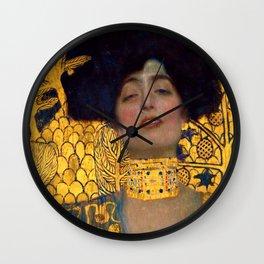 """Gustav Klimt """"Judith I"""" Wall Clock"""