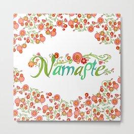 Namaste_Yoga Girls_ Flower Vines_RobinPickens Metal Print