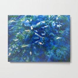 Blue Green Texture Metal Print