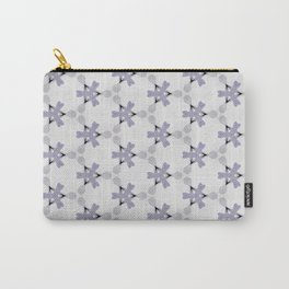 Multi Purple Pattern Design Carry-All Pouch