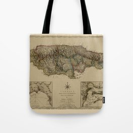 Map Of Jamaica 1775 Tote Bag