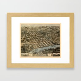 Map Of Knoxville 1871 Framed Art Print