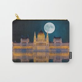 House of the Nation   Hungarian Parliament Building - Oil Painting Carry-All Pouch