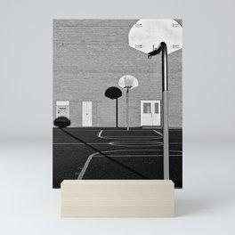 Schoolyard Basketball Mini Art Print
