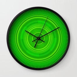 Green Star Formation Mandala Wall Clock