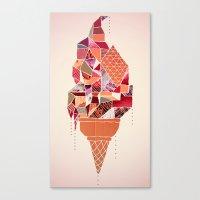 ice cream Canvas Prints featuring Ice-cream by Hugo Diaz Romero