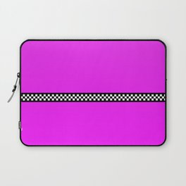 Hot Pink Taxi with Black and White Checkerboard Band Laptop Sleeve
