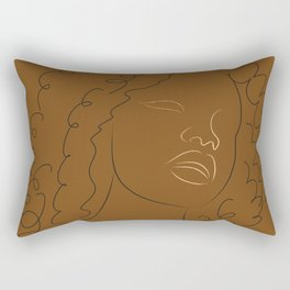 African American woman magic melanin beauty  Rectangular Pillow