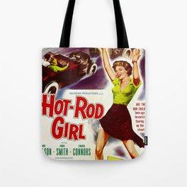 Hot Rod Girl Tote Bag