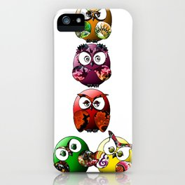 Owls Family iPhone Case