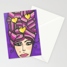 Big Pink Hair Stationery Cards