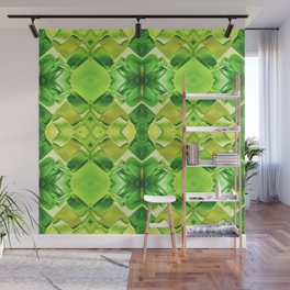 121 - green and yellow glass pattern Wall Mural