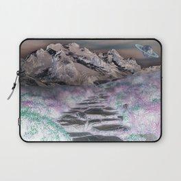 Cobble Stone Road Through The Mountains Towards Saturn Laptop Sleeve