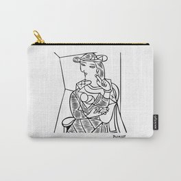 Pablo Picasso Seated Woman Artwork, Posters, Prints, TShirts, Reproduction Sketch, Men, Women, Kids Carry-All Pouch