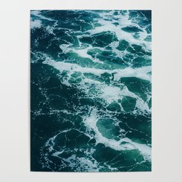 The Water Waves (Color) Poster