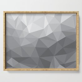 Gray Polygon Background Serving Tray