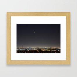 City Blood Moon. Framed Art Print