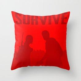 Minimalist Ellie and Joel ( The last of us ) Throw Pillow