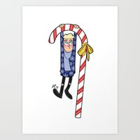 niall Art Prints featuring Xmas Niall by pygmy
