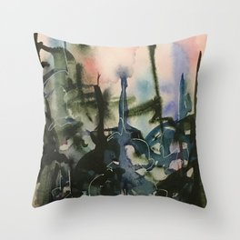 Blue Spruces (3) Throw Pillow