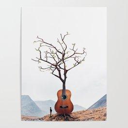 Guitar Tree Poster