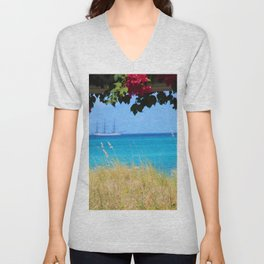 Turks & Caicos Sailboat Unisex V-Neck