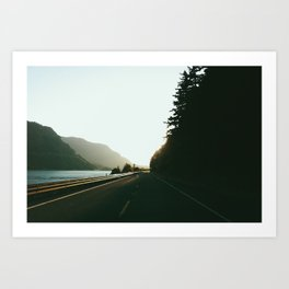 Travelling the Columbia Gorge Art Print