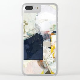 White Landscape from an Aerial View Clear iPhone Case