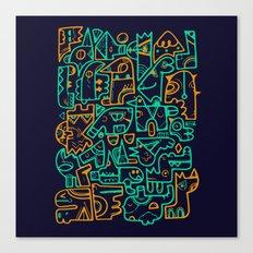 Tribal Animals Canvas Print